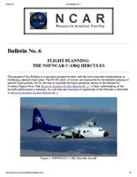 RAF Bulletin 6: Flight planning: The NSF/NCAR C-130Q Hercules (updated 2000)