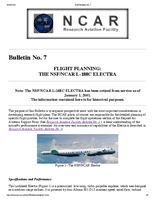 RAF Bulletin 7: Flight planning: The NSF/NCAR L-188C Electra (2001)