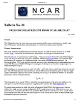 RAF Bulletin 21: Pressure measurement from NCAR aircraft (updated 2000)