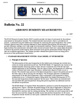 RAF Bulletin 22: Airborne humidity measurements (updated 2000)