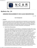 RAF Bulletin 24: Airborne measurements for cloud microphysics (updated 2000)