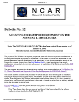 RAF Bulletin 12: Mounting user-supplied equipment on the NSF/NCAR L-188C Electra (updated 2000)