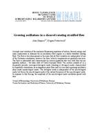 Growing oscillations in a sheared rotating stratified flow
