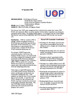 UCAR Office of Programs Director's Report, October 2006