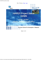 Presentation, HIAPER Project Status Update