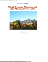 Photographs, UCAR Trustees, Members, and URC Meeting, October 2002