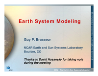 Presentation, Earth System Modeling, October 2007