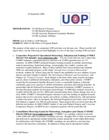 UCAR Office of Programs Director's Report, October 2008