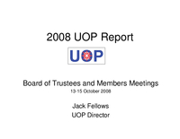 Presentation, UCAR Office of Programs Director's Report, October 2008