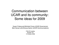 Presentation, New Communication Products, October 2008
