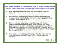 Presentation, UCAR Members' Meeting Forum Break-Out Group on Air Quality Report, October 2008