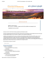 UCAR Members' Meeting Overview, October 2013
