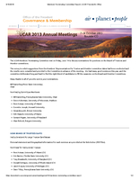 Nominating Committee Report, October 2013