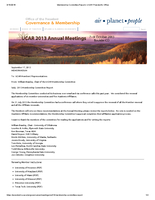 Membership Committee Report, October 2013