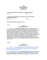 UCAR Bylaw Amendments Ballot Questions, October 2013