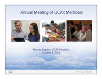 Presentation, UCAR President's Report, October 2013