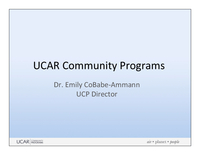 Presentation, UCAR Community Programs Director's Report, October 2013