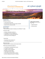 UCAR Members' Meeting Follow-Up Overview, October 2013