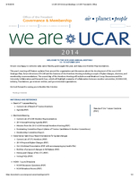 UCAR Members' Meeting Overview, October 2014