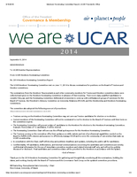 Nominating Committee Report, October 2014
