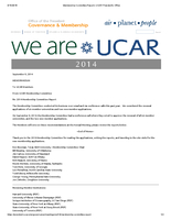 Membership Committee Report, October 2014