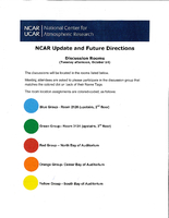 NCAR Update and Future Directions Discussion Group Room Assignments, October 2014