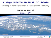 Presentation, NCAR Director's Report, October 2014