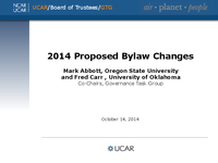 Presentation, UCAR Members' Committees Reports, October 2014
