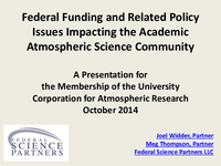 Presentation, Advocacy Briefing for UCAR Members' Representatives, October 2014