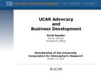 Presentation, Advocacy and Business Development, October 2014