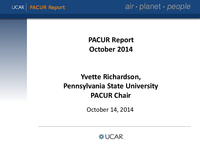 Presentation, President's Advisory Committee on University Relations Report, October 2014