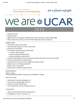 UCAR Members' Meeting Follow-Up Overview, October 2014