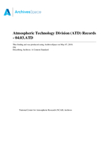 Atmospheric Technology Division (ATD) Records