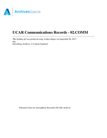 UCAR Communications Records