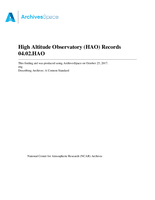 High Altitude Observatory (HAO) Records
