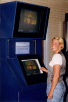 Student demonstrates how to use the Java Forecast Kiosk (JFK)