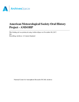 American Meteorological Society Oral History Project (AMSOHP)