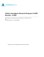Global Atmospheric Research Program (GARP) Records