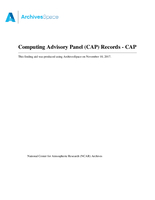 Computing Advisory Panel (CAP) Records