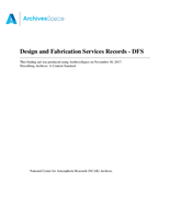 Design and Fabrication Services (DFS) Records