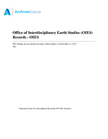 Office of Interdisciplinary Earth Studies (OIES) Records