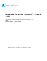 Geophysical Turbulence Program (GTP) Records