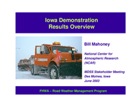 Iowa Demonstration Results Overview