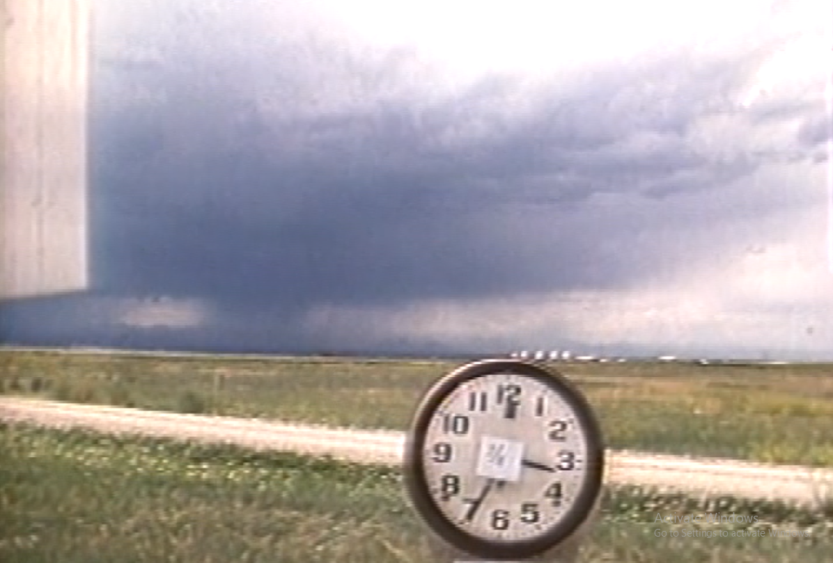 Time-lapse video of three microbursts