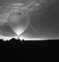 Photograph, Palestine balloon launch test