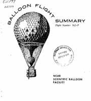 National Scientific Balloon Facility (NSBF) Records