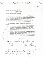 Correspondence, memo to HAO Staff from John Firor requesting volunteers for the Dedication