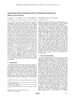 Acceleration of the contribution of the Greenland and Antarctic ice sheets to sea level rise