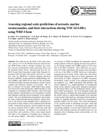 Assessing regional scale predictions of aerosols, marine stratocumulus, and their interactions during VOCALS-REx using WRF-Chem