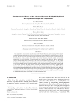 Two overlooked biases of the Advanced Research WRF (ARW) Model in geopotential height and temperature